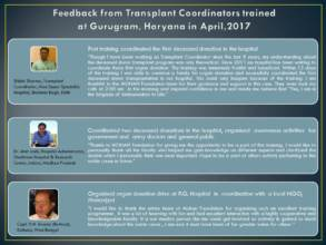 Feedback from trained transplant coordinators