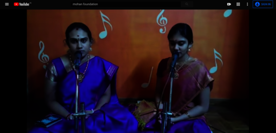 Snippet from Ms.Aishwarya and Ms.Saundarya Concert