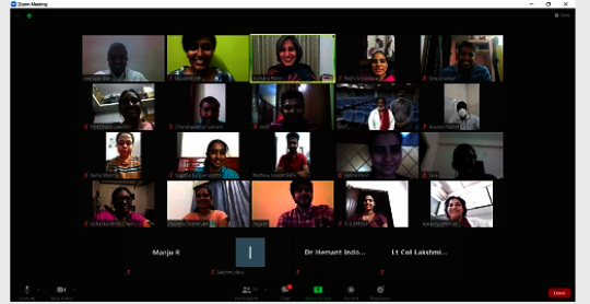 Screenshot from one of the sessions