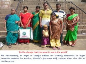 Organ donation volunteer donates mother's eyes