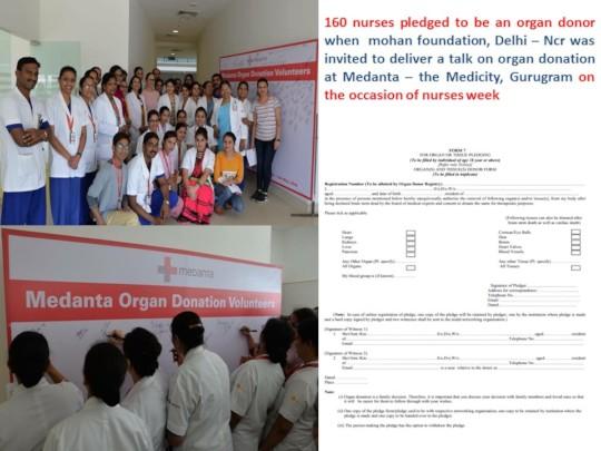 Nurses pledge to be an organ donor on nurses week