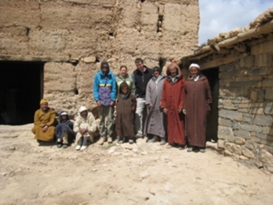 Project team on site in Morocco.