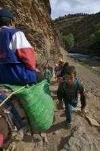 Children commute to school.