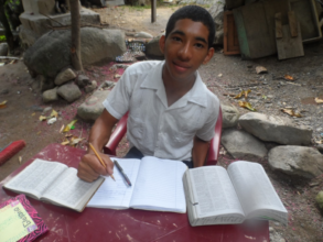 Maynor studying at home