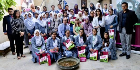 Educate a Girl scholars with the French Consul Gen