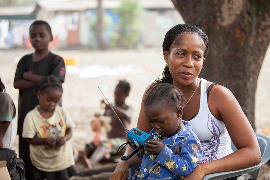 Josephine, an Ebola survivor from Liberia