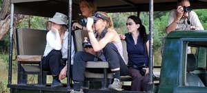 Volunteers on a wildlife survey.