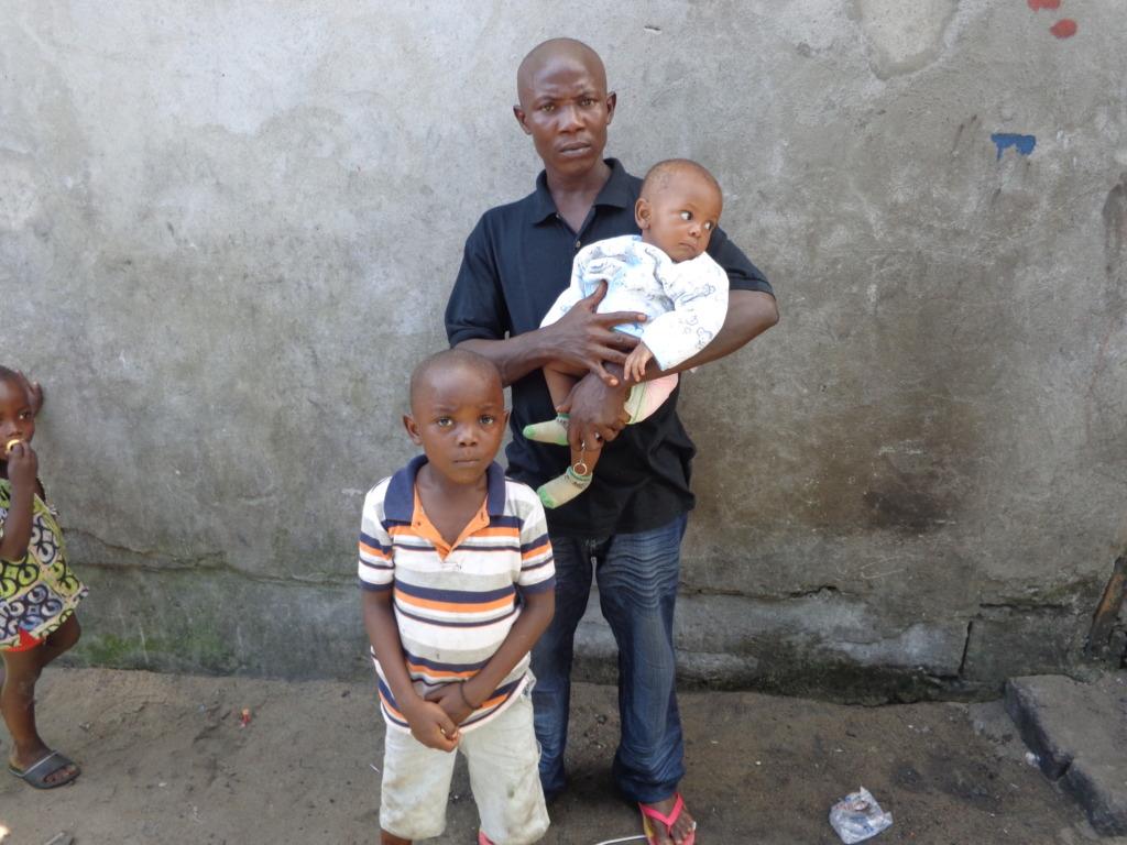 Ebola orphans and male caretaker