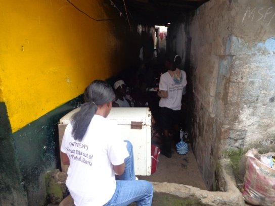 Outreachers in the field sensitizing community