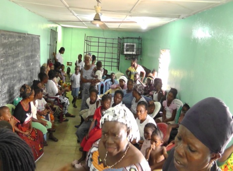 Ebola orphans and victims family members
