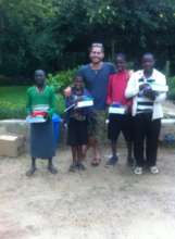 Jo and children supported by Footsteps