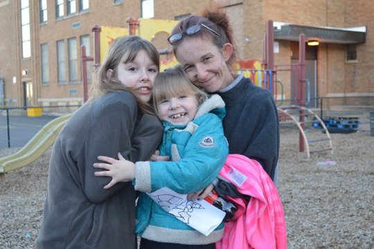 Staci and her daughters
