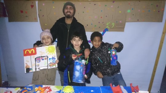 educator of the class&children with their products
