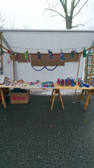 RespAct-project week stall at the Christmas market