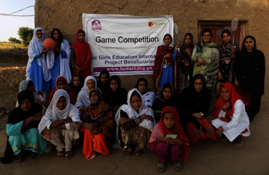 Girls Group Photo at Game Competition