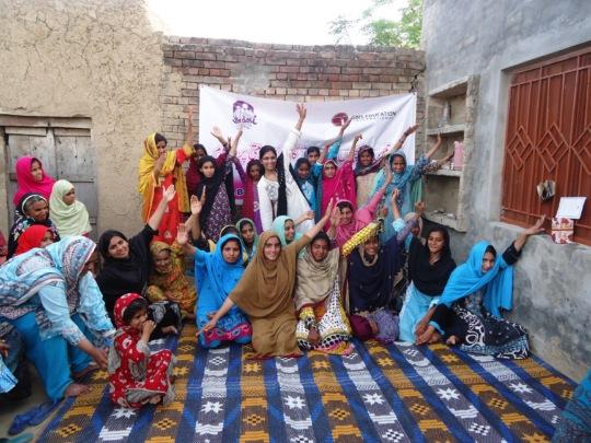 Some of the girls in Hattar village