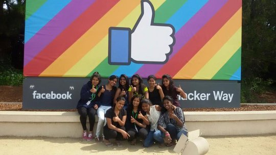 Kranti after our performance at Facebook