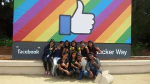 Kranti after our performance at Facebook's office