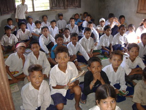 A rural village classroom