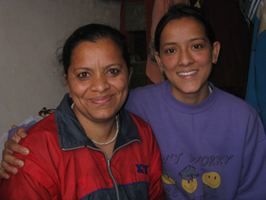 Ajeeta (here with her mother) is now a nurse, helping the needy!