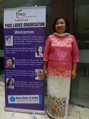 Lalthanzami at the award ceremony