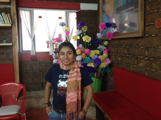 Lucy, on our visit to Chiapas
