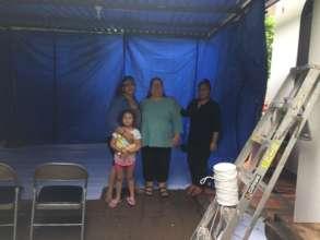 Building a temporary shelter