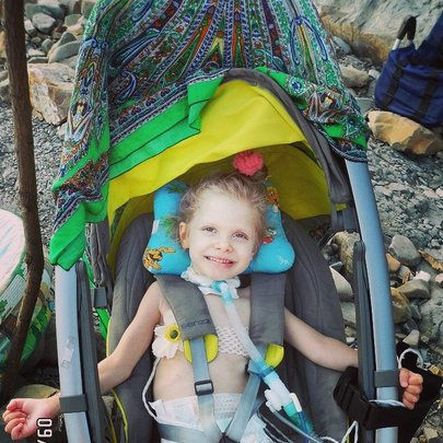 VERA's ward happy and traveling with ventilator