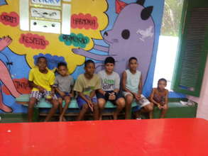 Paola with her group.