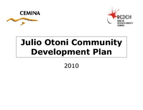 Development Plan for Julio Otoni 2010 (PDF)