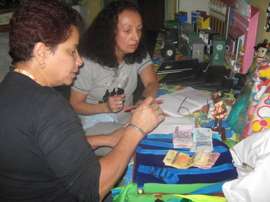 Women doing artcrafts