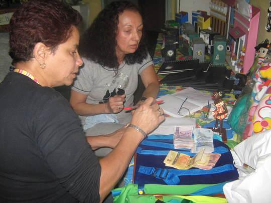 Women doing artcrafts
