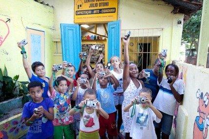 Children with their cameras...