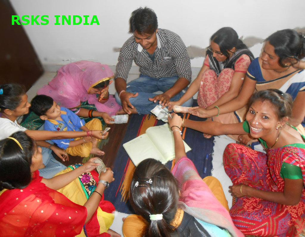 SHGs womens Doing deposits monthly savings