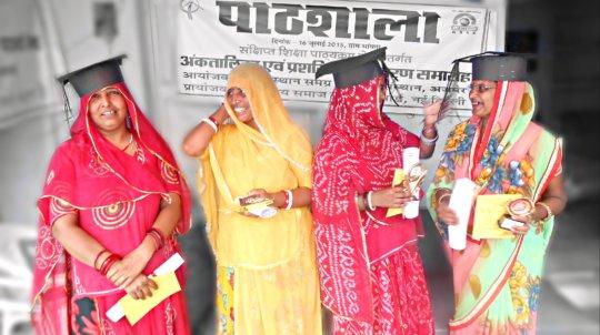 Women's Celebrate Success in Exam