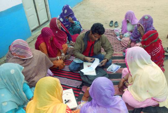 Women Self Help Group monthly meeting