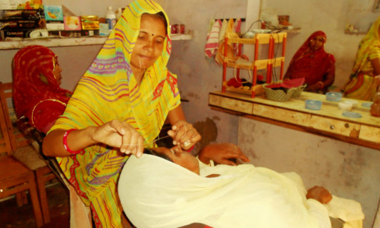one of the women of SHGs, successful entrepreneur