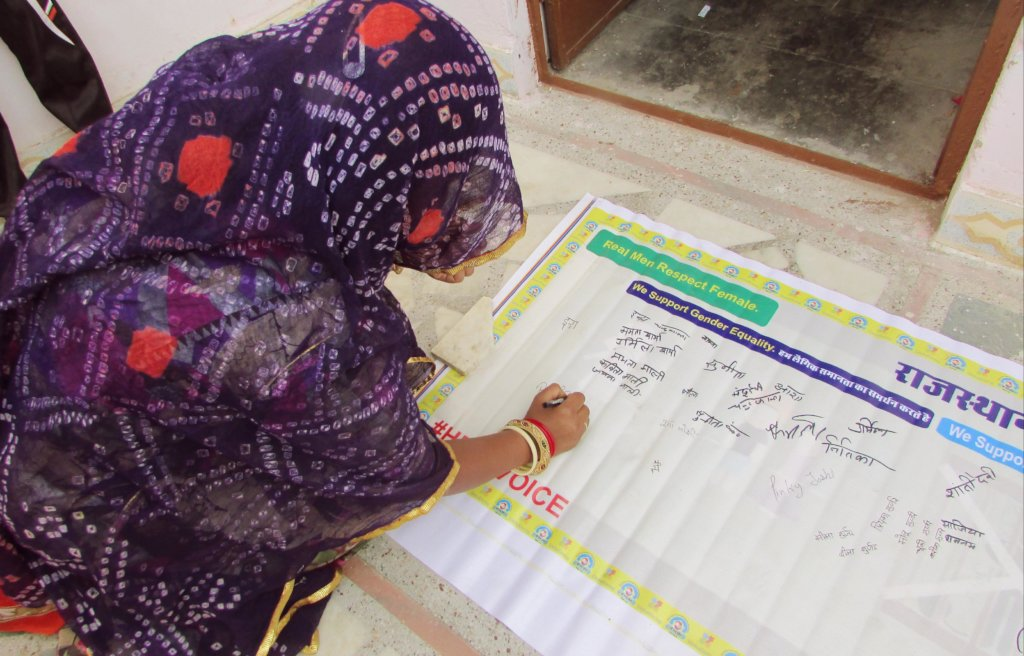 Signature campaign support by women