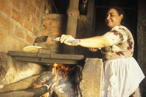 A Mayan Demonstrates Her Wood-Burning Stove