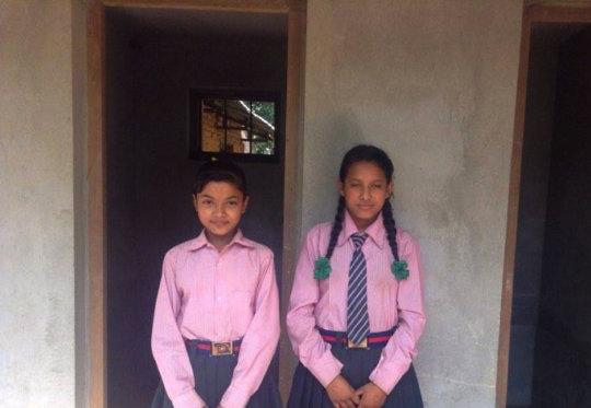 Devika and Srijana as they share toilet benefits