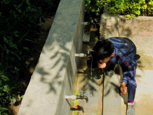 Sanitation corner supported @ Binayak School