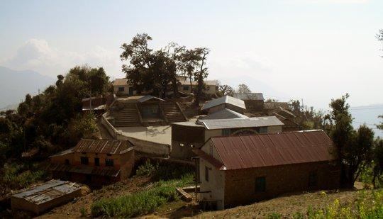 An Arial View of Shree Gothbhyanjyang School