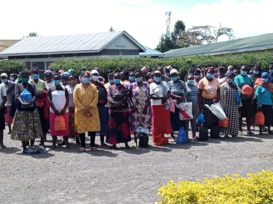 Recipients of our weekly food distribution program
