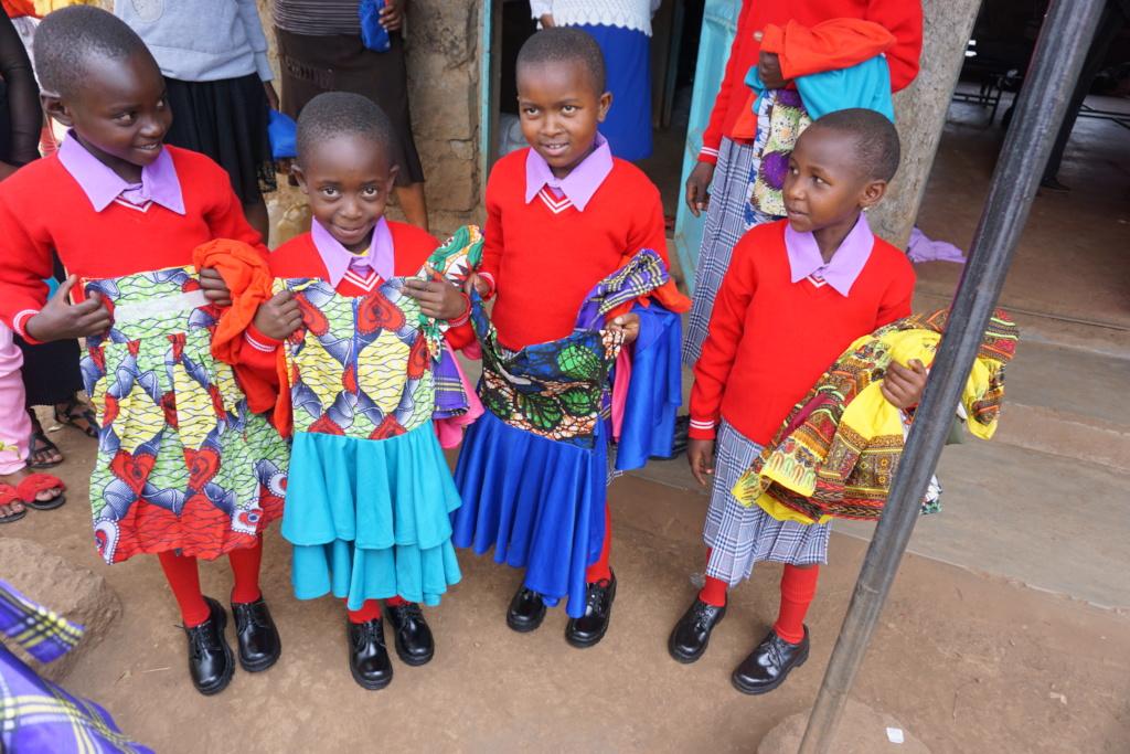 Yes, the little girls got cute new dresses as well