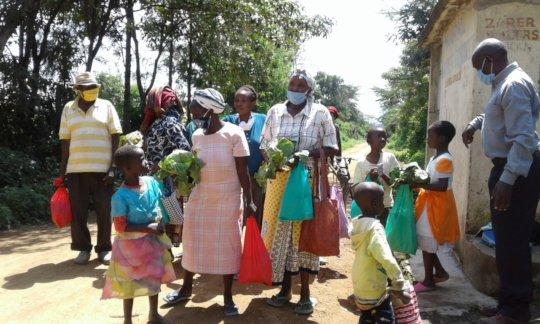 Families receiving food hampers