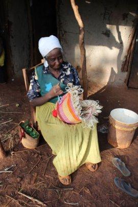Martha weaving