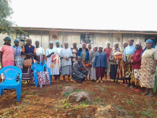 Basket weaving grandmother's group