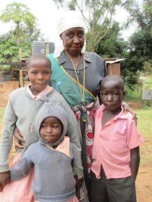 Martha with 3 of her 6 Great Grandchildren