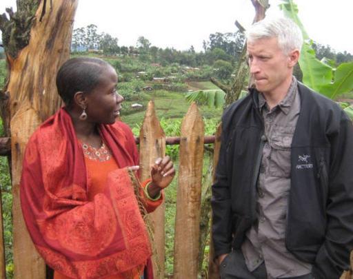Anderson Cooper and Judithe Registre