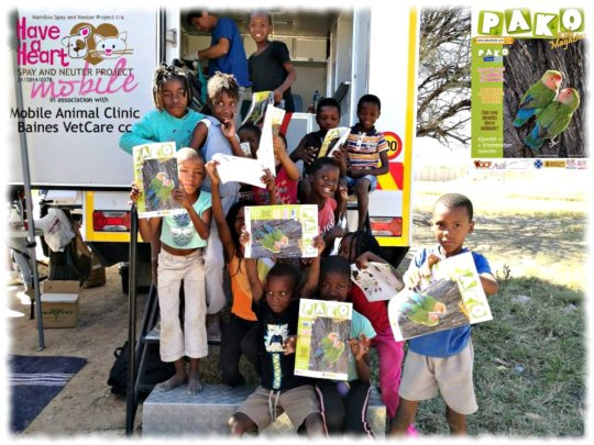 All kids who attend the clinic get Pako magazine